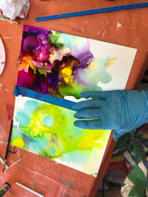 Alcohol Ink Classes: Maggie DeMarco